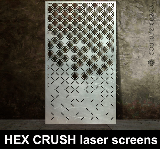 Hex Crush Geometric Laser Cut Screens Laser Cut Screens