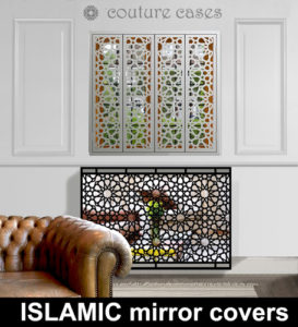 Islamic inspired radiator covers with mirror to reflect light back into the room