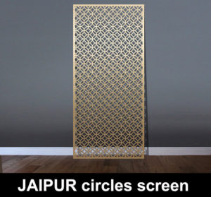 Jaipur fretwork pattern laser cut screens and room partitions