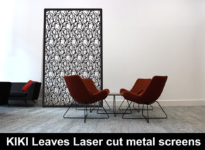KIKI LEAVES laser cut metal screens perfect for the home or garden