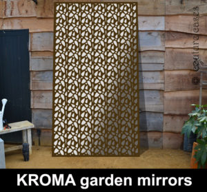 Decorative garden wall panels in KROMA pattern