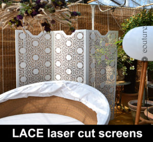 Laser cut lace panels and garden screens