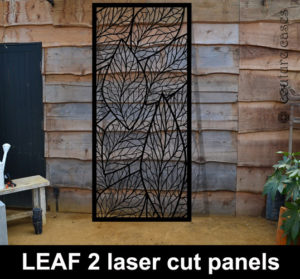 Garden wall panels in laser cut metal
