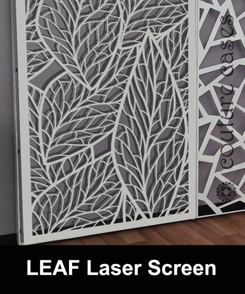 leaf laser cut screens and wall panels for commercial