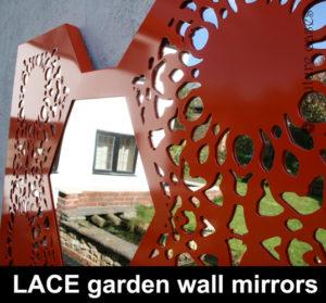 Custom made wall mirrors for modern gardens