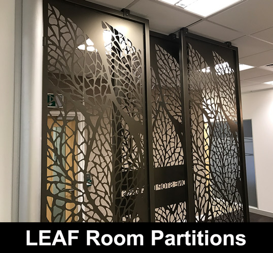 Leaf Decorative Room Partitions Laser Cut Screens For