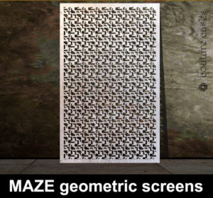 MAZE laser cut metal screens and architectural metalwork
