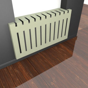 Laser cut metal radiator covers