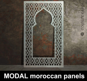 Moroccan laser cut panels custom made