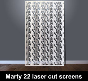 Marty 22 laser cut metal screens
