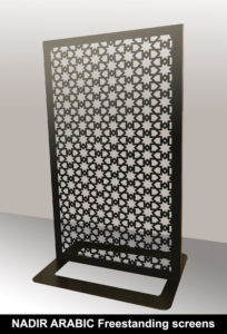 NADIR Arabic laser cut metal screens and fretwork