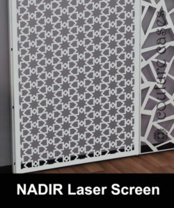 NADIR laser cut screens and wall panels for commercial interiors