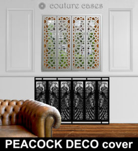 Peacock Art Deco radiator covers
