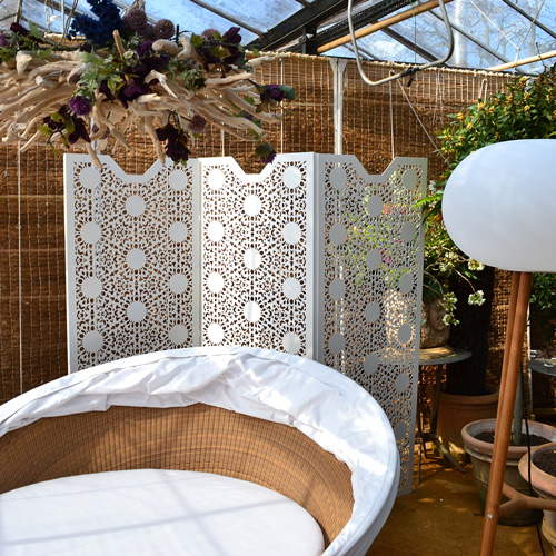 Perforated laser cut metal garden privacy screens
