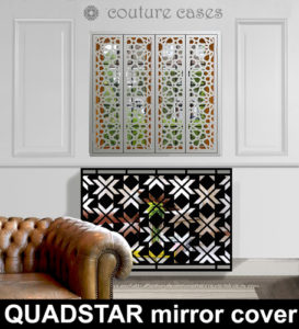 Mirrored radiator covers in Quadstar pattern