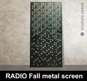 Modern laser cut metal screens