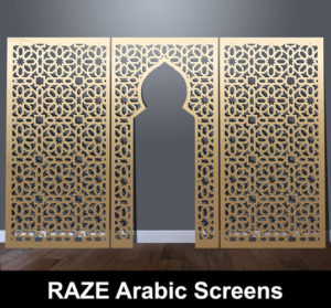 Daran arabvic and moroccan laser cut panels