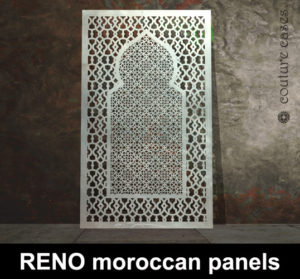 Moroccan laser cut metal screens