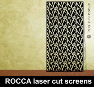 ROCCA laser cut metal panels and architectural screens for modern interiors