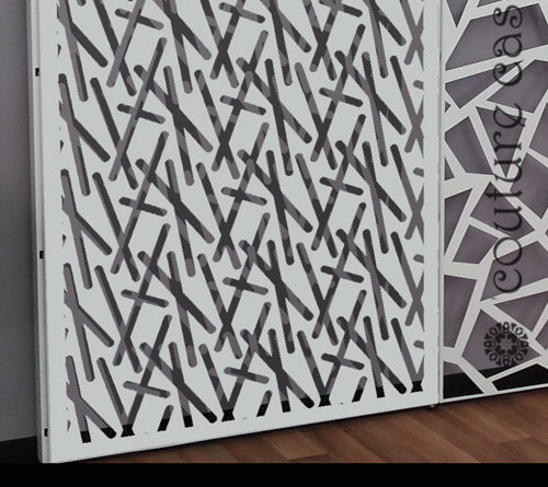 laser cut metal display panels