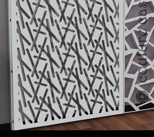 laser cut metal display panels