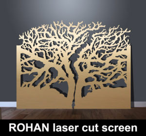 ROHAN laser cut metal panels in tree design