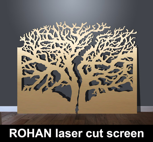 rohan laser cut metal screens in tree design  u2013 laser cut
