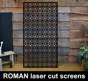 ROMAN laser cut screens and wall panels for commercial interiors custom made in the UK