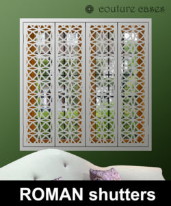 Decorative Interior window security shutters italian design