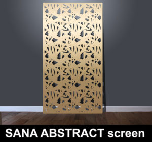 SANA ABSTRACT laser cut architectural fretwork screens and fretwork panels