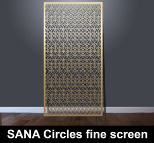 SANA Circles fine laser cut panels with horizontal pattern