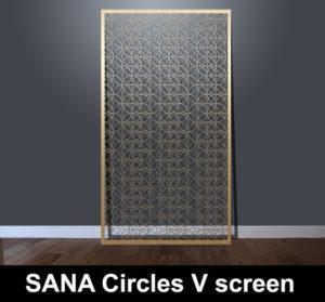 SANA Circles fine laser cut fretwork panels with vertical pattern