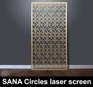 SANA Circles laser cut architectural screens for modern interiors