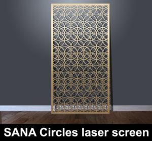 SANA Circles laser cut architectural screens for modern interiors