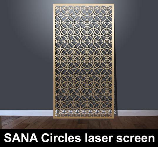 Architectural Decorative Screen : Sana circles laser cut architectural screens
