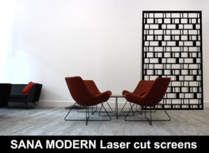 SANA MODERN laser cut metal screens for home and architectural interiors