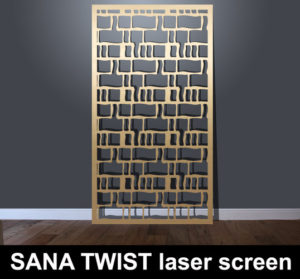 SANA TWIST laser cut architectural screens for modern interiors
