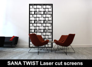 SANA Twist laser cut metal panels