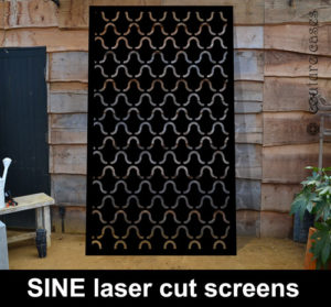 SINE laser cut metal panels and architectural screens