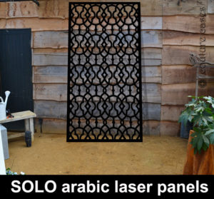 Arabic design laser cut metal panels