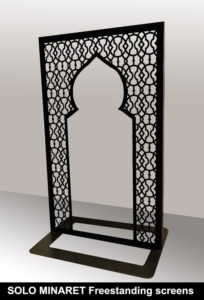 SOLO MINARET metal room partitions and room dividers