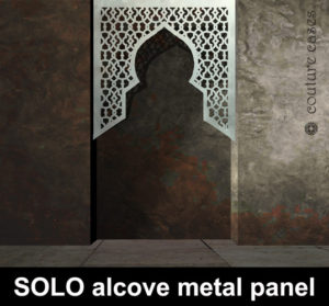 SOLO Moroccan top alcove laser cut metal panels