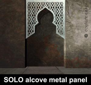 SOLO Moroccan top alcove laser cut metal panels