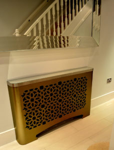 Spark Arabic gold hallway radiator covers