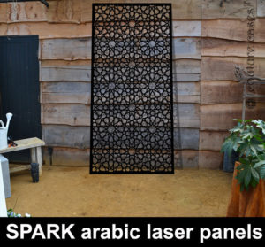 SPARK Arabic pattern laser cut panels