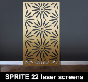 SPRITE 22 laser cut metal patterns and fretwork styles in gold