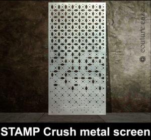 STAMP Crush laser cut metal panels