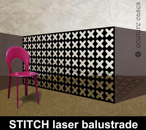STITCH laser cut metal balustrades in modern architectural designs
