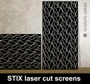 STIX laser cut decorative panels in metal and MDF for home and commercial interiors