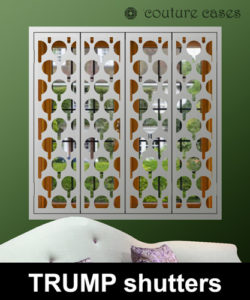 Interior security shutters modern design